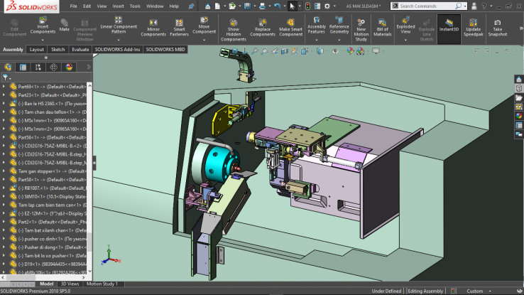 Mo hinh tong the hoc solidworks online