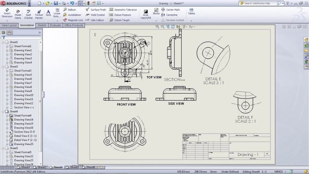 xuat ban ve Solidworks